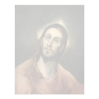 Christ in Prayer by El Greco Letterhead Template