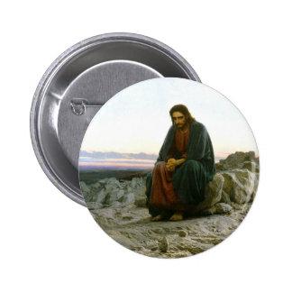 Christ in the Desert 2 Inch Round Button