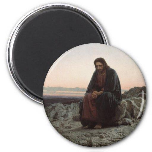 Christ in the Desert Fridge Magnets