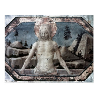 Christ in the grave by Jacopo Bellini Postcard