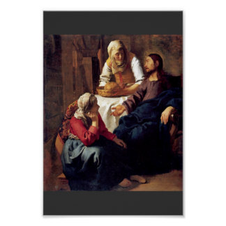 Christ In The House Of Martha And Mary,  By Vermee Poster