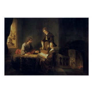 Christ in the House of Martha and Mary Print