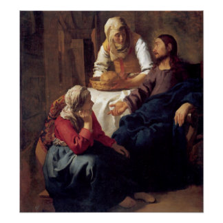 Christ in the House of Mary and Martha Poster