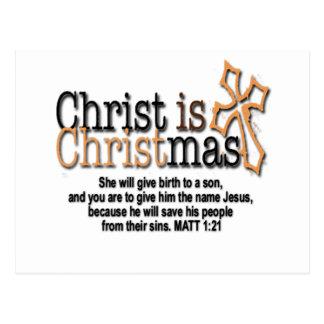 CHRIST IS CHRISTMAS POSTCARD