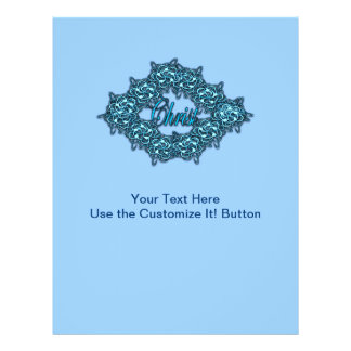 Christ is the Center - Ice Blue Flyer Design