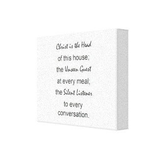 christ is the head of this house wall art,canvas canvas print