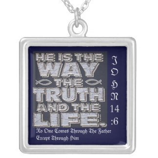 Christ Is The Way Silver Plated Necklace