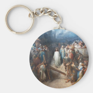 Christ Leaving Praetorium Basic Round Button Keychain