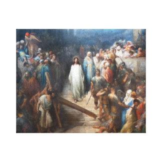 Christ Leaving Praetorium Canvas Print