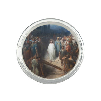 Christ Leaving Praetorium Photo Rings