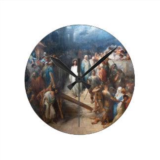 Christ Leaving Praetorium Round Clock