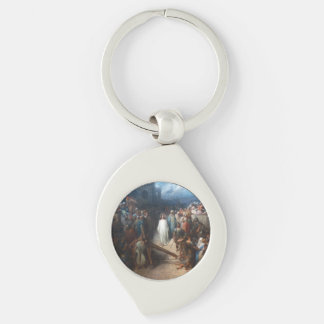 Christ Leaving Praetorium Silver-Colored Swirl Keychain