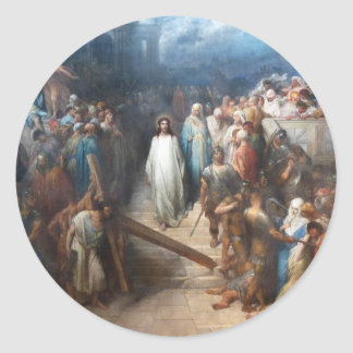 Christ Leaving the Praetorium Classic Round Sticker