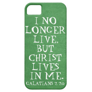 Christ lives in me bible verse Galatians 2 20 iPhone 5 Covers