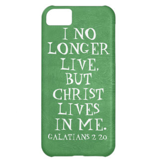Christ lives in me bible verse Galatians 2:20 iPhone 5C Covers