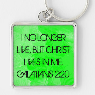 Christ lives in me bible verse Galatians keychain
