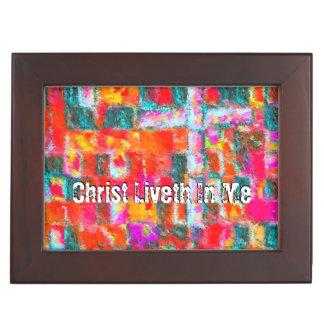 Christ Liveth In Me Keepsake Box