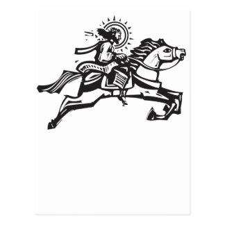 Christ on a Jumping Horse Postcard