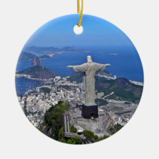 CHRIST ON CORCOVADO MOUNTAIN CERAMIC ORNAMENT
