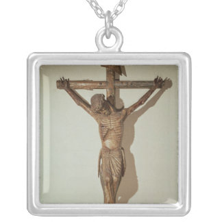 "Christ on the Cross, called ""Le Devot Christ"" Silver Plated Necklace"