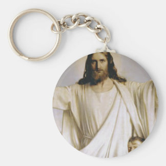 Christ Our Lord Basic Round Button Keychain