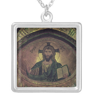 Christ Pantocrat in the apse Silver Plated Necklace