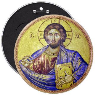 Christ Pantocrator 6 Inch Round Button