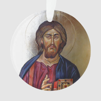 Christ Pantocrator And Saint Mary Theotokos Ornament
