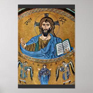 Christ Pantocrator By Meister Von Cefalã¹ (Best Qu Poster