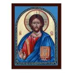 Christ Pantocrator Prayer Card Postcard