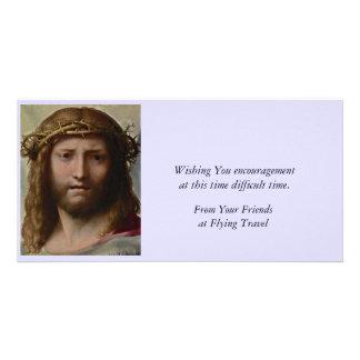 Christ Risen Portrait Photo Card