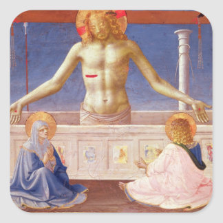 Christ Rising from his Tomb Square Sticker