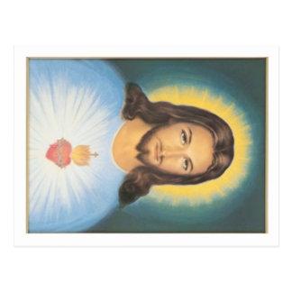 Christ sacred heart postcard