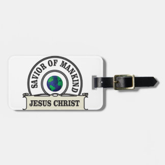 christ savior of all mankind luggage tag
