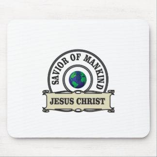 christ savior of all mankind mouse pad