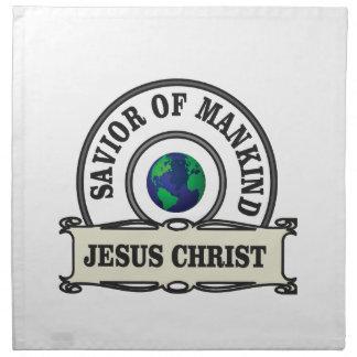 christ savior of all mankind napkin