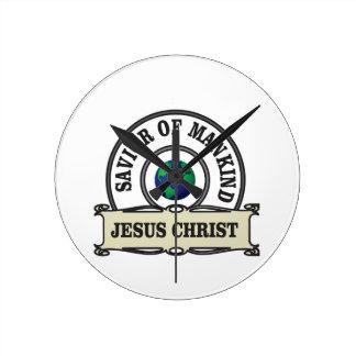 christ savior of all mankind round clock