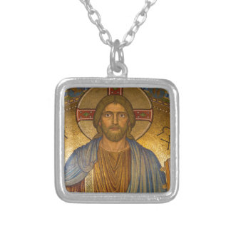 Christ Silver Plated Necklace