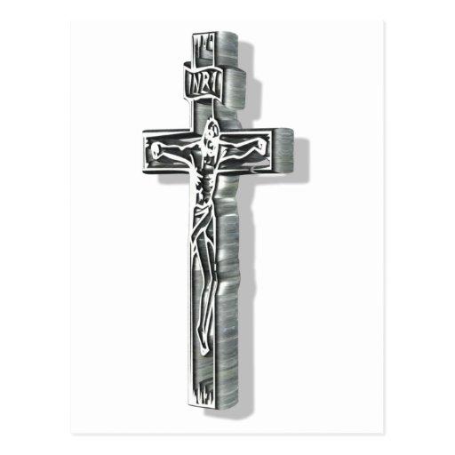 Christ sur croix 3D Post Cards