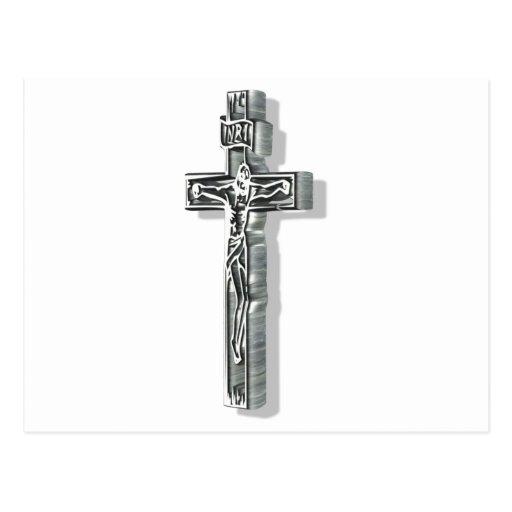 Christ sur croix 3D Post Card