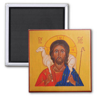 Christ the Good Shepherd Orthodox Icon magnet