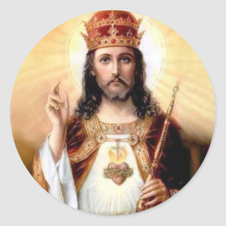Christ the King Classic Round Sticker