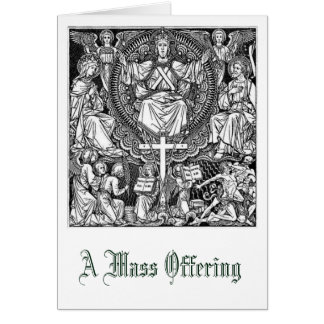 Christ the King Mass Offering Memorial Card