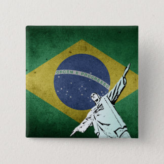Christ the Redeemer 2 Inch Square Button