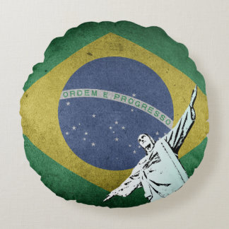 Christ the Redeemer Round Pillow
