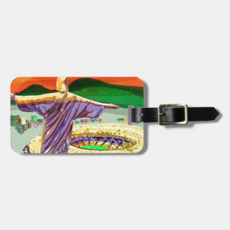 Christ The Redemer and Maracanã Stadium - Rio - Br Luggage Tag