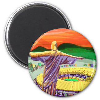 Christ The Redemer and Maracanã Stadium - Rio - Br Magnet