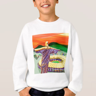 Christ The Redemer and Maracanã Stadium - Rio - Br Sweatshirt