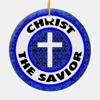 Christ the Savior Round Ceramic Ornament