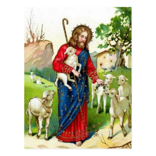 Christ The Shepherd Postcard